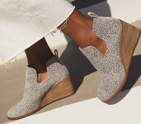 Sustainable dotted shoes.